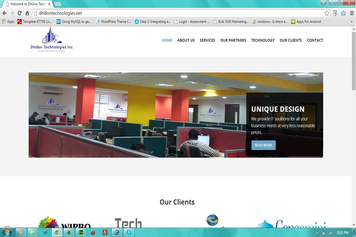 Dhillon Technologies Website